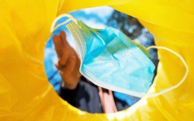 Mascarillas Plásticas son recicladas en Nuevo proyecto que busca convertirlas en nuevos productos.